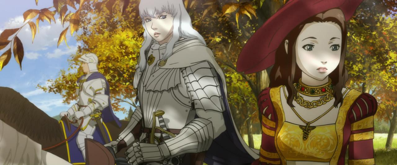 Griffith elment királylányt hódítani. Gyönyörű a leányzó ruhája.