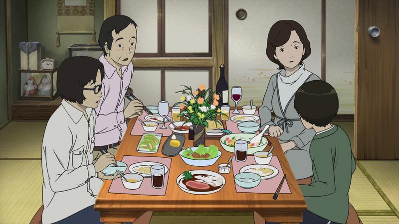 Kobayashi Makoto és családja.