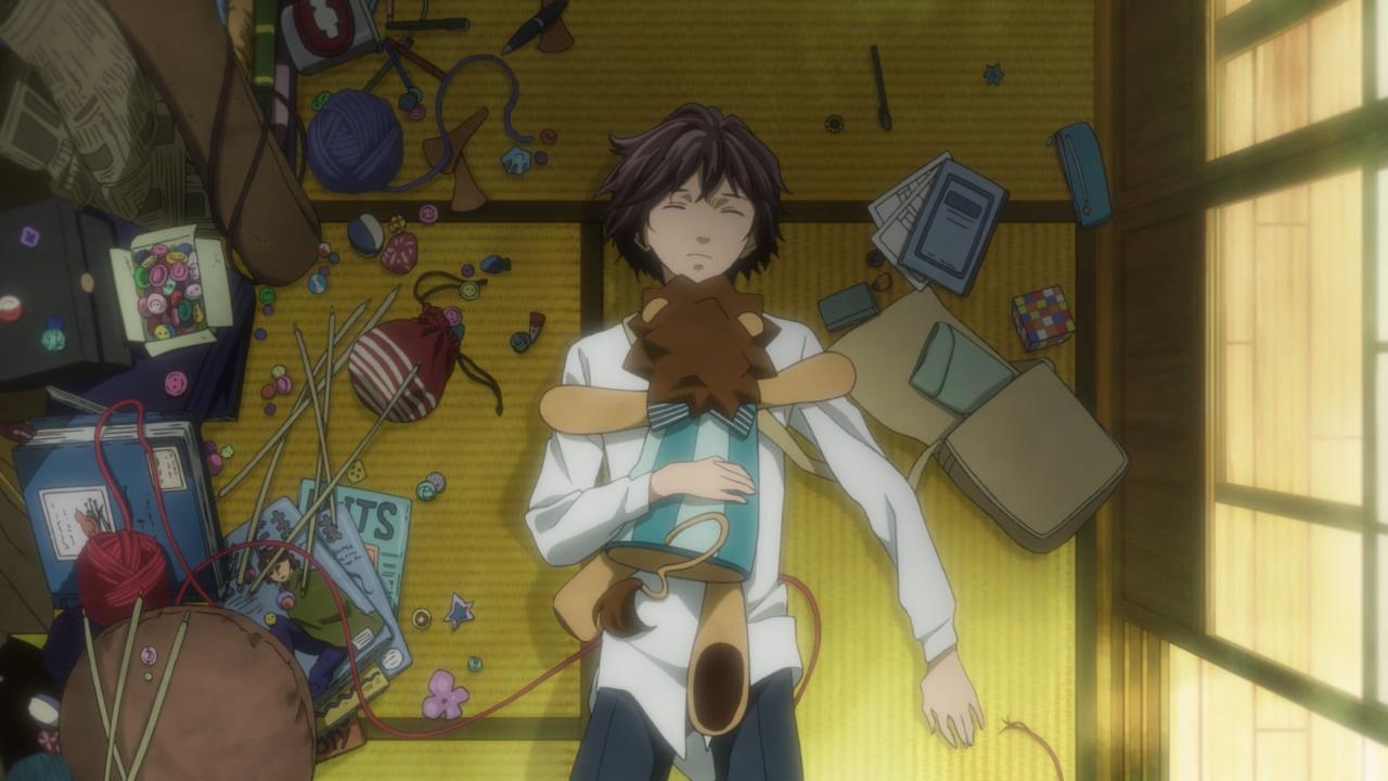"""Az anime egyszerre hat újszerűként, érzékelteti észrevétlenül a sci-fi """"valóságát"""" miközben megállíthatatlanul ontja magából a """"retrós"""" képeket, amik az egyszerű, kézműves foglalkozások tárházából gazdálkodnak."""