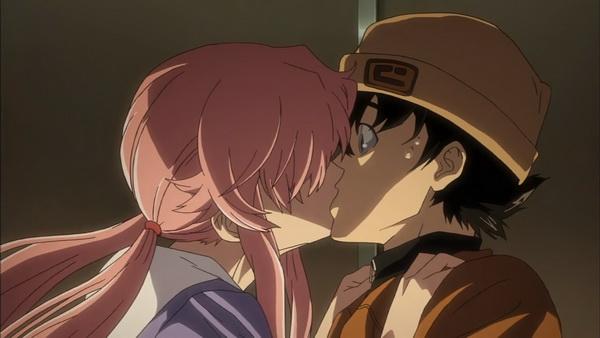 Az első csók: Yuno nem tököl ha az érzelmeinek kinyilvánítására kerül a sor.