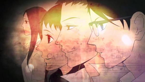 Yurika, Ritsuko, Sentaro és Kaoru a szép opening kezdetén