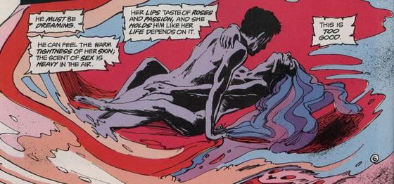 Egy kis expresszív erotika, amikor két test eggyé válik egy férfi álmában.