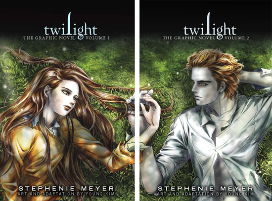 A Twilight képregény két kötetét egymás mellé téve egy gyönyörű képet kapunk.