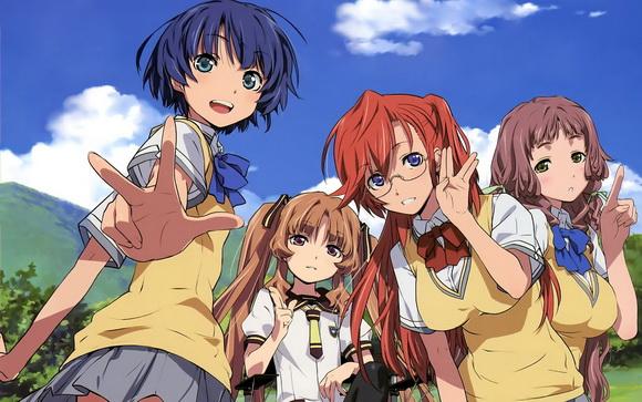 A négy női karakterünk: Kanna, Remon, Ichika, Mio.