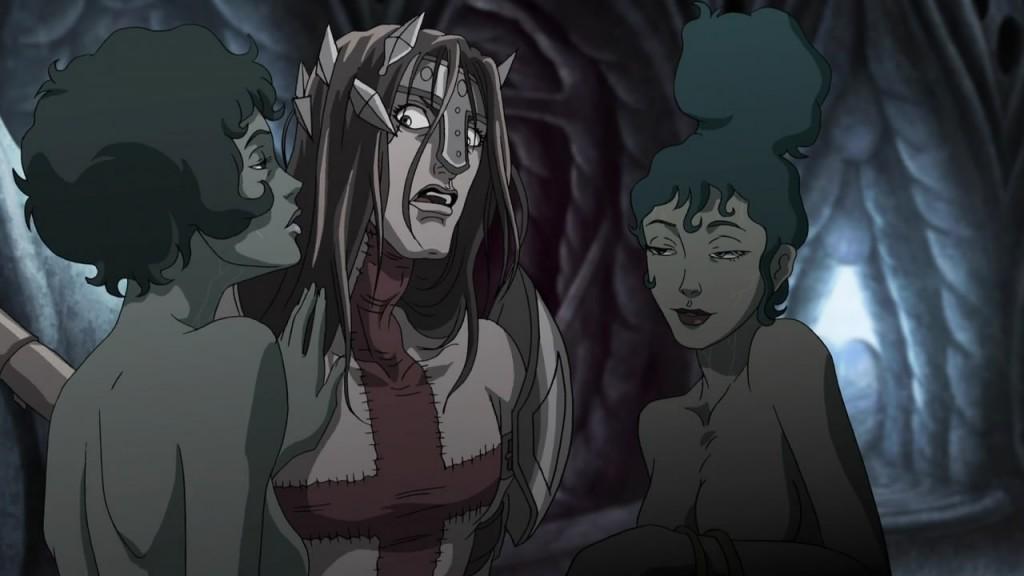 Dantét búja démonlányok kísértik meg.