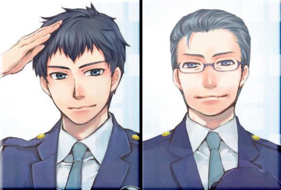 A 26 éves Hokari Shiro, a nagy igazságérzettel megáldott újonc, míg az ő társa a veterán Tezuka Mamoru (42 éves), aki nyugodtsággal és nagy tapasztalattal a háta mögött ad útmutatást fiatal munkatársának.