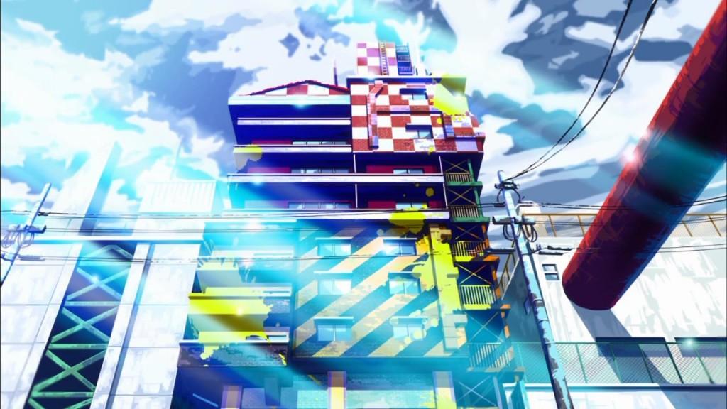 Igazi szívfájdalmam, hogy az animét nem méltatják a grafikája miatt. Pedig ilyen épületeket, szép színeket és fényeket ritkán látni ehhez hasonló animékben.
