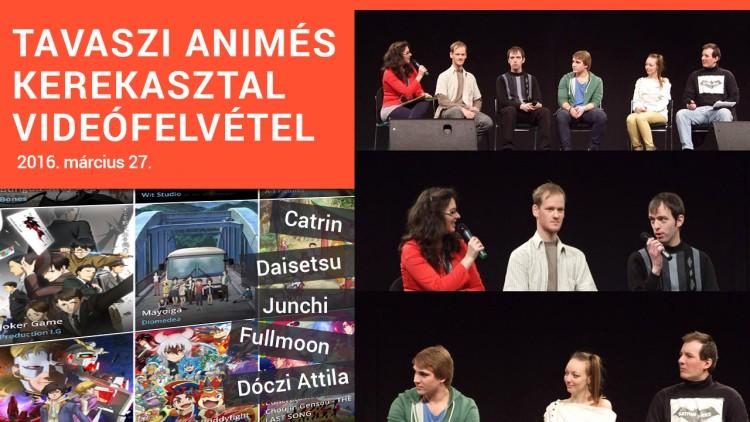 animekerekasztal-videofelvetel